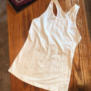White Calvin Klein Performance Quick Dry Tank